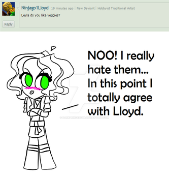 ASK LEYLA #1: Ninjago1Lloyd by DarkPrincess116