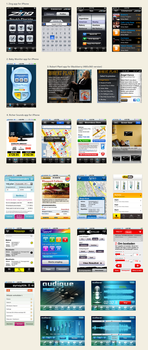 Samples of mobile apps design by lakmus