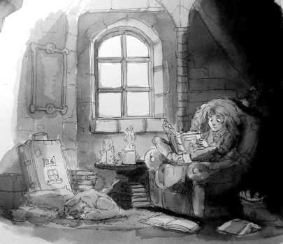 Time to read. by Mouphie-Art