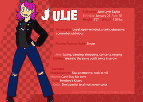 Reference Sheet - Julie by SP85