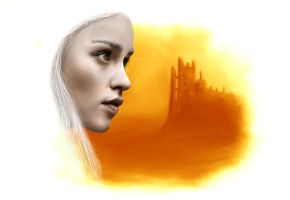 Daenerys Targaryen - Digital Portrait by SilverbackDesign