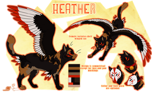 Heather - Fursona Reference Sheet by whistlebliss