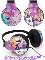 My Little Pony Headphones by DablurArt