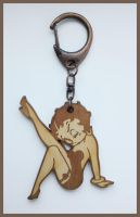 BETTY BOOP - wood keyring by Piciuu