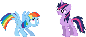 Rainbow Dash and Twilight mane-swapped by rolin11