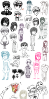 biggest sketch dump i've ever made omg by CardiacBabes