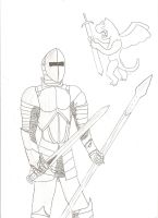 Sir Lancelot. ready for battle by dragonsdale