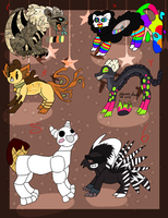 6 FREE creature adoptables - CLOSED by Amanska