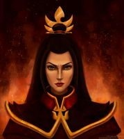 Azula the fire Lord (colour version) by KsuShusha