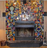 Mosaic Fireplace by vacuumslayer