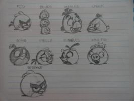 My Angry Birds Drawing by JPPAqui