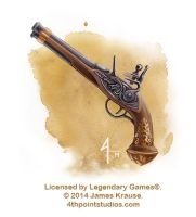 Flintlock Pistol for Legendary Games by JamesJKrause