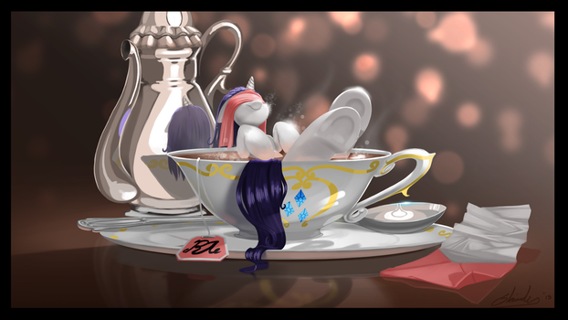 Earl Gray with marshmallows by Shnider
