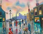 'the old harbour' oil painting by gordonbruce