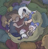 New Born Baby Brother Slumber Party by sky665