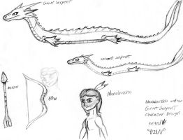 Nanabozho and the Great Serpant character design by Dinoboy134