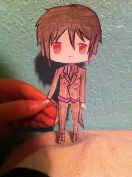 Sebastian paper child by AhoyNekoChan
