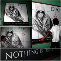 Ezio On The Wall by shan3990