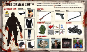 Zombie Survival Sheet by xJaneirax