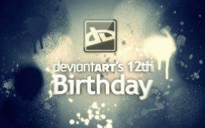 DeviantART's 12th Birthday Wallpaper by 4EverYoungKid