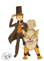 Hershel and Arcanine by reigned-wings