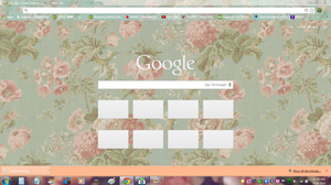 Vintage Flower Theme for Google Chrome by XG912