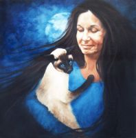 Jillian and Clyde - Oil Painting by AstridBruning
