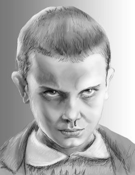 Eleven - Stranger Things by vampipe