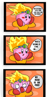 Kirby Tuesday-The Fire Comic by thegamingdrawer