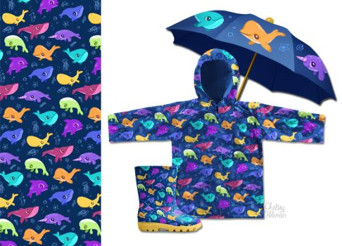 Whale Pattern by chelseyholeman