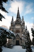 Grave-chapel in Winter II by kissesfrom