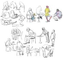 Zoo and Cafe Sketches by bmaras