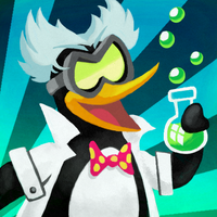 mad scientist penguin by Cortoony