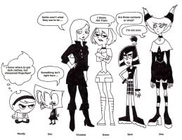 Cartoon Gothic Good Girls by ColdHeartedCupid