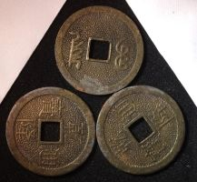 Chinese I Ching Coins by fuguestock