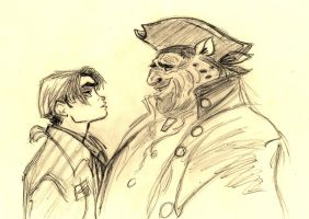 James Hawkins/John Silver - Treasure Planet by SophiaLiNkInFaN93