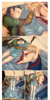 Thor and Loki Snuggle Blanket by Lepas