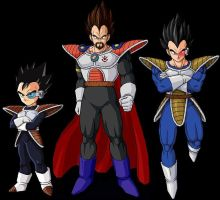 King Vegeta's family by RecoomeCalcio