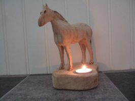 Simple horse art/craft tea light by arbortechuser