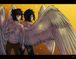 Winged brothers by AbnormallyNice