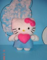 Angel Kitty plushie by Kittyportugal