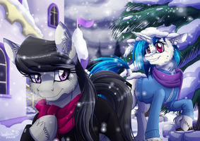 Stroll in the Snow by InuHoshi-to-DarkPen