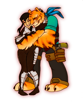 Karai and Tigerclaw by noodle-doodle