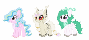 Dislestia foals for IRL-SnowQueenRarity by CitrusSkittles