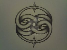double ouroboros design by SynkroArt