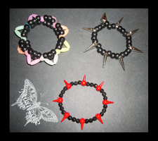 Spiked Bracelets by Kandifiedkitten