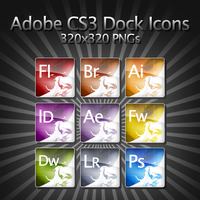 Adobe CS3 Dock Icons by FT69