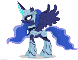Luna in armor - No weapons by Larsurus