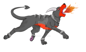 Houndoom From The Dark To The Light  by littleevee17