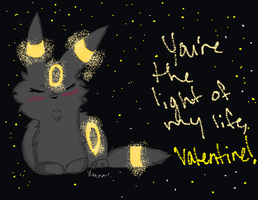 Valentine: Umbreon by RainTheNeko